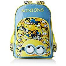 Minion Polyester Blue and Yellow School Bag (Age group :6-8 yrs) for Rs. 602