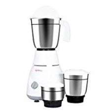 Buy Lifelong Power Pro 500-Watt Mixer Grinder with 3 Jars (White/Grey) from Amazon
