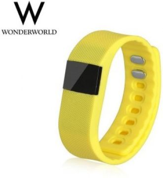 Buy Wonder World ™ TW-64 Fitness Bracelet with Bluetooth 4.0  (Yellow) for Rs. 1,949