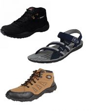 Buy Chevit Men's Trio Pack of 3 Casual Running Shoes and (Sandals and Floaters) from Amazon