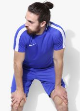 Get 45% off on Nike As Dry Acdmy Ss Blue Football Round Neck T-Shirt