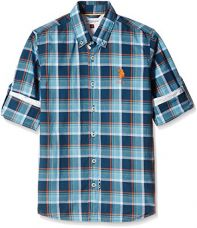 Buy US Polo Association Boys' Shirt (SH5761_Medium Blue_ES FS) from Amazon
