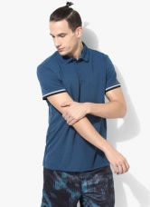 Buy Adidas Unctl Clmch Blue Polo T-Shirt from Jabong