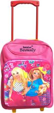 Buy Batu Lee Princess Mesh Bag Waterproof Trolley  (Pink, 15 inch) from Flipkart