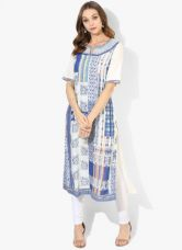 Get 40% off on Biba Multicoloured Printed Modal Kurta