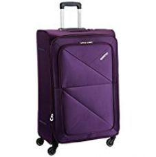 Buy American Tourister Peru Polyester 48 cms Purple Softsided Suitcase (AMT PERU SP 77CM EXP - PURPLE) from Amazon