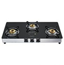 Buy Pigeon by Stovekraft Blackline Square SS Gas Stove, 3 Burner from Amazon