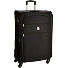 Buy Delsey Trip Soft 78Cm Black Check-In Trolley Luggage (00002282100F9) from Amazon