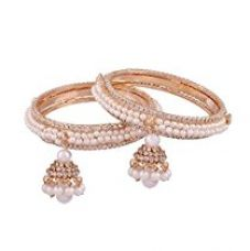 Buy I Jewels Traditional Gold Plated Pearl Bangles for Women ADB123 from Amazon