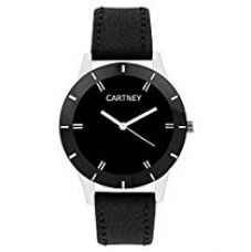 CARTNEY Analog Black Dial Leather Strap Round Shape Women & Girl's Watch - (CTY65LDS) for Rs. 349
