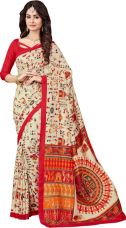 Flat 75% off on AJS Embellished Fashion Crepe Saree  (Multicolor)