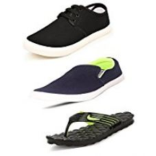 Buy Scatchite Men's Multicolor Combo Of Sneaker , Loafer & Slipper - 7 from Amazon