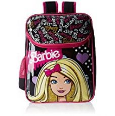 Buy Barbie Pink and Black Backpack (MBE -  MAT039) from Amazon