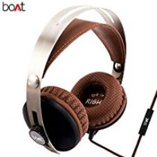 BoAT BassHeads 800 Super Extra Bass Wired Headphones with Mic (Brown) for Rs. 999