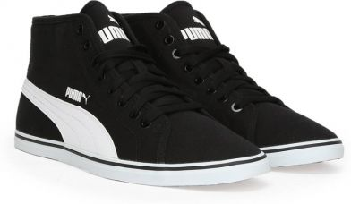 Flat 65% off on Puma Elsu v2 Mid CV IDP Mid Ankle Sneakers  (Black)