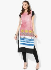 Get 50% off on W Pink Printed Polyester Kurta