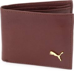 Puma Men Brown Genuine Leather Wallet  (4 Card Slots) for Rs. 296