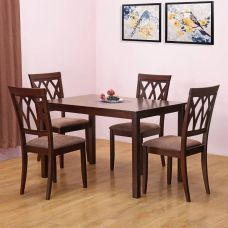 Buy @home by Nilkamal PEAK Solid Wood Dining Set  (Finish Color - Cappuccino) from Flipkart