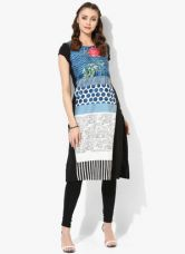 Buy W Multicoloured Printed Polyester Kurta for Rs. 910