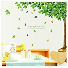 Syga 'Green Tree' Wall Sticker (PVC Vinyl, 61 cm x 5 cm x 5 cm, 886) for Rs. 207