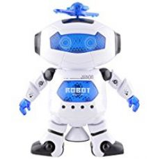 Buy Tickles Dancing Robot with LED Light and Music, Multi Color from Amazon