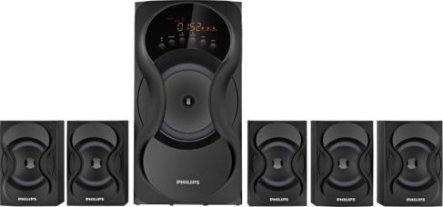 Flat 5% off on Philips IN-SPA5160B/94 Bluetooth Home Audio Speaker  (Black, 5.1 Channel)