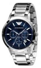 Buy Imported Emporio Armani Ar2448 Stainless Steel Blue Dial Mens Chrono Watch from Rediff