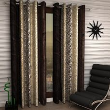 Home Sizzler Eyelet Polyester Window Curtain - 5ft, Brown for Rs. 199