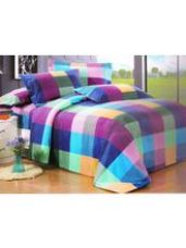 Get 51% off on Welhouse India Checkered Print Double Bed Sheet Wi...