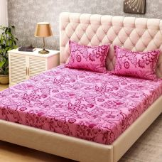 Bombay Dyeing Cotton Floral Double Bedsheet  (1 Double Bedsheet + 2 Pilow Cover, Pink) for Rs. 549