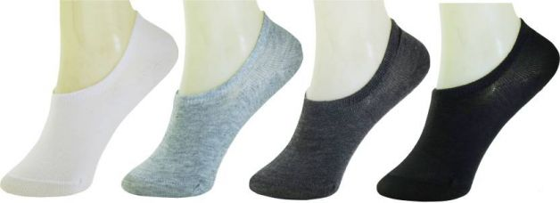 Get 86% off on Neska Moda Men & Women Solid No Show Socks  (Pack of 4)