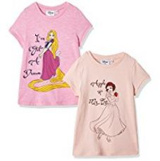 Buy Disney's Princess Girls' T-Shirt (Pack of 2) from Amazon