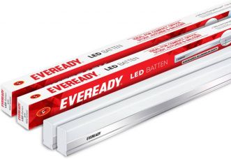 Get 37% off on Eveready 4 Ft 18 W Straight Linear LED Tube Light  (White, Pack of 2)
