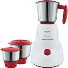 Maharaja Whiteline MG Livo MX-151 500-Watt Mixer Grinder with 3 Jars (Red) for Rs. 1,699