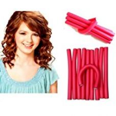Imported 10 pieces self holding Hair Curling Flexi rods Magic Air Hair Roller Curler Bendy Magic Styling Hair Sticks hair pin for Rs. 200