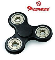 Premsons Fidget Spinner 608 Four Bearing Ultra Speed with Silver Steel Wing Bearings (Black) for Rs. 160