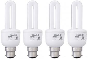 Buy Halonix Super Saver Base B22 9-Watt CFL (Pack of 4, Cool Day Light) from Amazon
