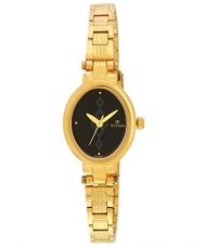 Buy Titan Analog Black Dial Women's Watch - 2535YM02 from Amazon