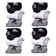 Easy4Buy Pack Of 12 Pairs Socks With ADS Logo Sports Ankle Length Cotton Towel Socks for Rs. 499