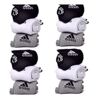 Buy Adidas Pack Of 12 Pairs Socks With Ads Logo Sports Ankle Length Cotton Towel Socks from Amazon