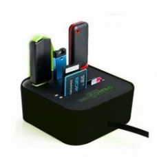 Buy All In One 3 Port USB With Multi Card Reader Combo Hub Black from Rediff