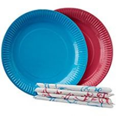 Buy Origami Printed Party Combo - Set of 10 plates + 10 Napkins - Packs of 2 Sets from Amazon