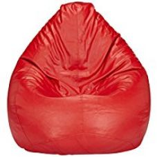 Get 60% off on Solimo XL Bean Bag Cover Without Beans (Red)