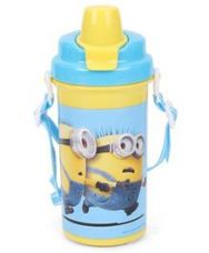 Buy Minions Equals To Chaos Water Bottle Yellow - 500 ml from FirstCry