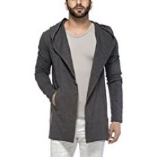 Buy Tinted Men's Cotton Blend Hooded Cardigan (Large, Anthera) from Amazon