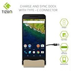 Tizum High Quality Type C Dock Charger Docking Station Micro USB Connector with Stand (Gold) for Rs. 599