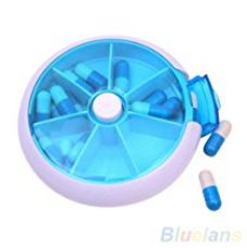 Buy Portable Press Button Round Plastic Pocket Pill / Medicine Storage Box / Organiser (Color May Vary) from Amazon