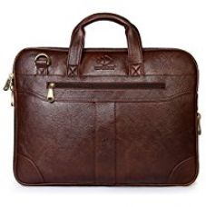 The Clownfish 15.6 inch Synthetic Leather Laptop and Tablet Bag - Macbook Pro, Macbook Air Laptop Bag (Brown) With 365 days warranty for Rs. 1,615