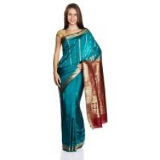 Parchayee Solid Green Mysore Polycotton Uppada Saree 94705D for Rs. 849