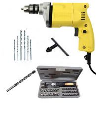 Get 46% off on Buildskill BED1100 Powerful Electric Drill Machine 10mm with Copper Motor + 6HSS Bits + 1 Masonary Bit + 41 pcs Screwdriver Set (6 Months Brand Warranty)